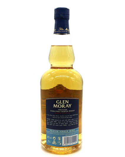 Glen Moray peated scotch whisky verso