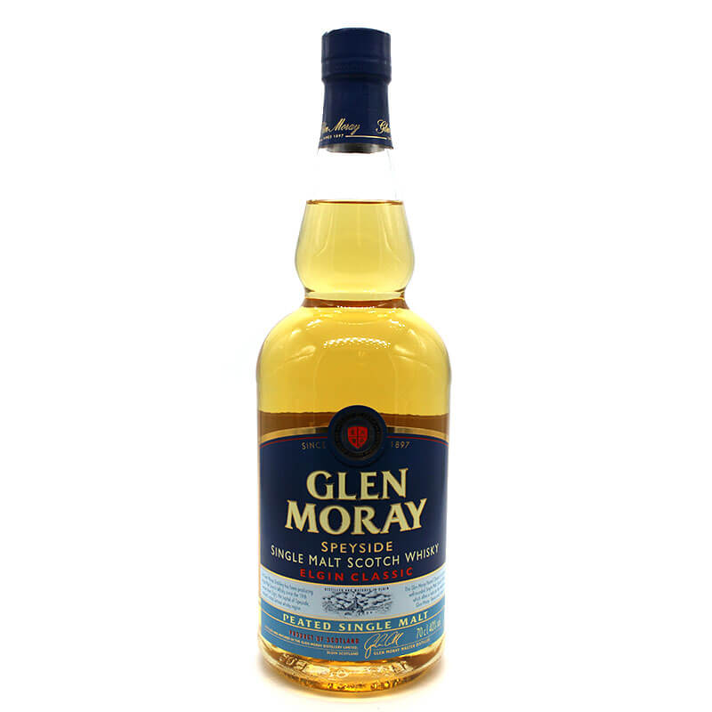 Glen Moray peated scotch whisky