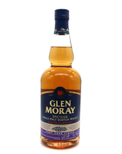 Glen Moray port cask scotch whisky
