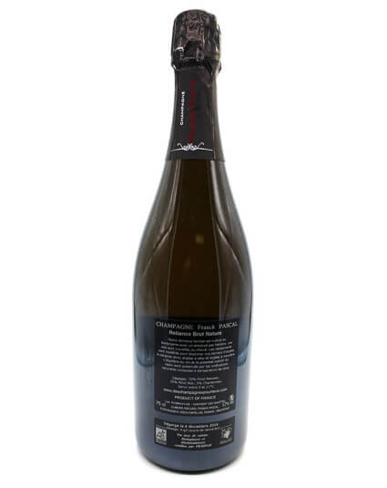Champagne Franck Pascal Reliance brut verso