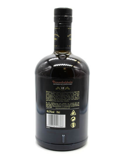 Bunnahabhain 12 ans scotch whisky verso