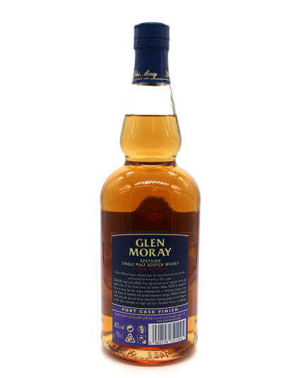Glen Moray port cask scotch whisky verso