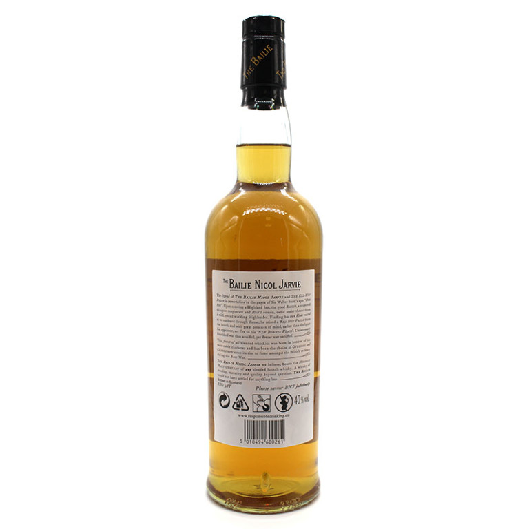 The Bailie Nicol Jarvie Scotch whisky verso